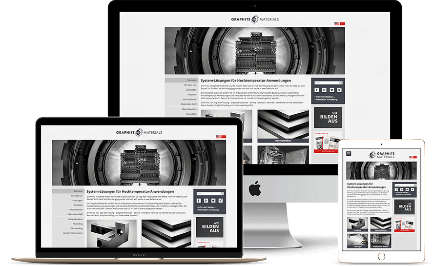 Referenz Graphite Materials Website
